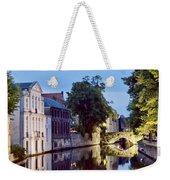 Brudges Canal Bridge Weekender Tote Bag