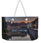 Bruges Canal Dawn Weekender Tote Bag