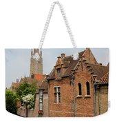 Bruges Houses With Bell Tower Weekender Tote Bag by Carol Groenen