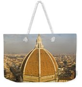 Brunelleschi's Dome At The Basilica Di Santa Maria Del Fiore Weekender Tote Bag