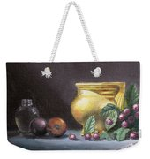 Brushed Gold Vase Weekender Tote Bag