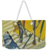 Brushes And Paints For Artists Palette Weekender Tote Bag