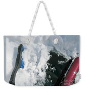 Brushing Winter Away Weekender Tote Bag