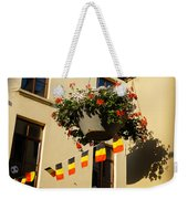 Brussels Belgium - Flowers Flags Football Weekender Tote Bag