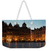 Brussels - Grand Place Facades Golden Glow Weekender Tote Bag