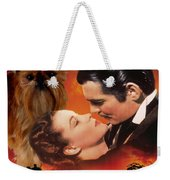 Brussels Griffon Art - Gone With The Wind Movie Poster Weekender Tote Bag