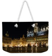 Brussels - The Magnificent Grand Place At Night Weekender Tote Bag