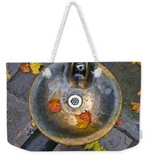 Bryant Park Fountain In Autumn Weekender Tote Bag
