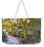 Bryant Park October Weekender Tote Bag by Liz Leyden