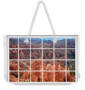 Bryce Canyon White Picture Window View Weekender Tote Bag