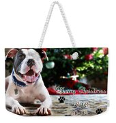 Bubba's First Christmas Weekender Tote Bag