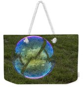 Bubble On Grass With St.johns Bridge Weekender Tote Bag
