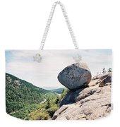 Bubble Rock Acadia National Park Maine Weekender Tote Bag