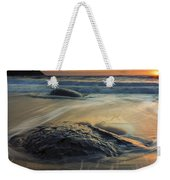 Bubbles On The Sand Weekender Tote Bag by Mike  Dawson
