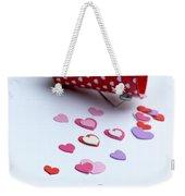 Bucket Of Hearts Weekender Tote Bag