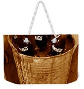 Bucket Of Iced Cold Coca Cola Weekender Tote Bag