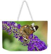 Buckeye Butterfly On Purple Flowers Weekender Tote Bag