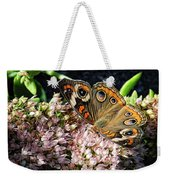 Buckeye Butterfly On Sedum Weekender Tote Bag