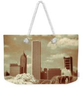 Buckingham Fountain In Chicago Weekender Tote Bag