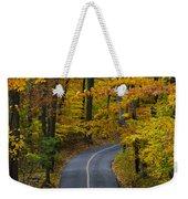 Bucks County Road In Autumn Weekender Tote Bag