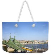 Budapest Cityscape And Liberty Bridge Weekender Tote Bag