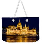 Budapest Parliament At Night Weekender Tote Bag