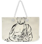 Buddha In Black And White Weekender Tote Bag by Pamela Allegretto