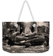 Buddha In Meditation Statue Weekender Tote Bag