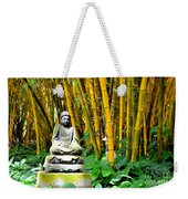 Buddha In The Bamboo Forest Weekender Tote Bag