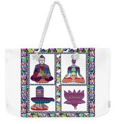 Buddha Yoga Chakra Lotus Shivalinga Meditation Navin Joshi Rights Managed Images Graphic Design Is A Weekender Tote Bag by Navin Joshi