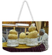 Buddha Figures With Thick Layer Of Gold Leaf In Phaung Daw U Pagoda Myanmar Weekender Tote Bag
