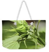 Budding Sunflower Weekender Tote Bag
