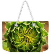 Budding Sunflower Weekender Tote Bag