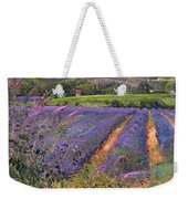 Buddleia And Lavender Field Montclus Weekender Tote Bag