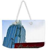 Budweiser And Building  Weekender Tote Bag
