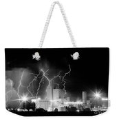 Budweiser Lightning Thunderstorm Moving Out Bw Pano Weekender Tote Bag