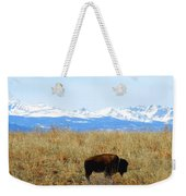 Buffalo And The Rocky Mountains Weekender Tote Bag