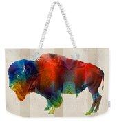 Buffalo Animal Print - Wild Bill - By Sharon Cummings Weekender Tote Bag
