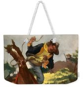 Buffalo Bill And The Silk Lasso Weekender Tote Bag by Dime Novel Collection