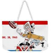 Buffalo Bills 1963 Playoff Program Weekender Tote Bag