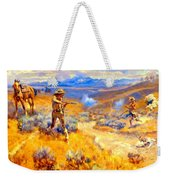 Buffalo Bills Duel With Yellowhand Weekender Tote Bag