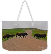 Buffalo Crossing Weekender Tote Bag