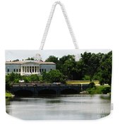 Buffalo History Museum And Delaware Park Hoyt Lake Oil Painting Effect. Weekender Tote Bag