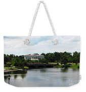 Buffalo History Museum And Delaware Park Hoyt Lake Oil Painting Effect Weekender Tote Bag