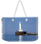Buffalo New York Outer Breakwater Lighthouse Weekender Tote Bag
