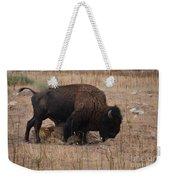 Buffalo Of Antelope Island Iv Weekender Tote Bag