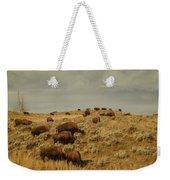 Buffalo On The Prairie Weekender Tote Bag