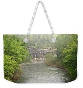 Buffalo River Mist Horizontal Weekender Tote Bag