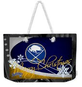 Buffalo Sabres Christmas Weekender Tote Bag