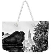 Buffalo Statue On The Parkway Weekender Tote Bag